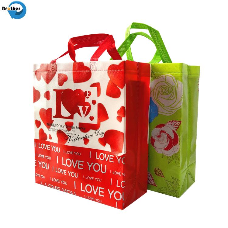 High Quality Customized Lamination Printing Nonwoven Shopper Carry Bag, Reusable Laminated PP Non Woven Tote Shopping Bag
