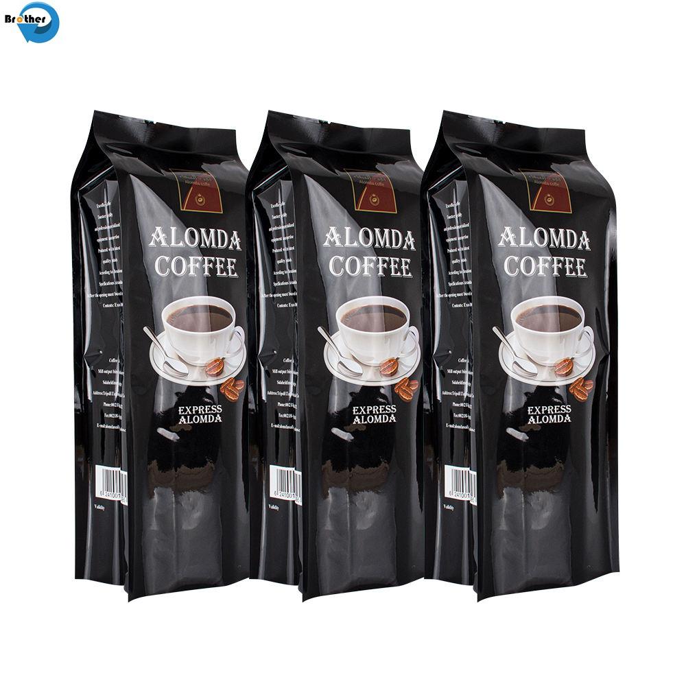 Customized Professional Printing Food Grade Plastic Aluminium Foil Flexible Packaging Heat Seal Coffee Bags