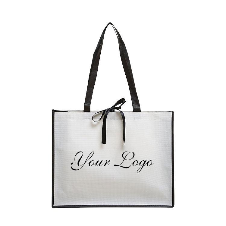 Custom Logo Reusable PP Woven Shopping Bag, Supermaket Bag Storge Bag, Tote Promotion Bag for Advertisement